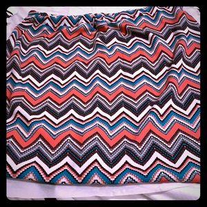 Plus Knee length Skirt